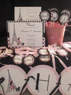 Ooh La La Paris Birthday Party Package by KristinesCreationsSD, $75.00