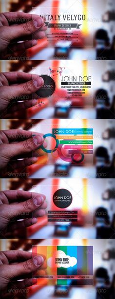 Buy 5 in 1 Transparent Business Cards by Realstar on GraphicRiver. Details CMYK Colors 300 DPI x x with bleeds)Fully Editable FilesPrint Ready FilesHorizontal File. Business Card Design, Creative Business, Transparent Business Cards, Corporate Id, Print Templates, Card Templates, Packaging Design Inspiration, Marketing, Brand Packaging