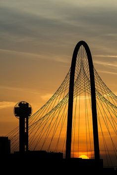 Dallas Icons at Sunrise by ccrenshaw, via Flickr