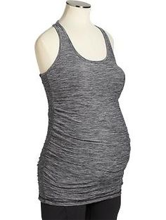 Maternity Old Navy Active Smocked-Side Tanks | Old Navy