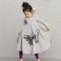 Cheap dress girl, Buy Quality girls dress directly from China robe bapteme Suppliers: Spring Autumn New Casual Baby Girl Dresses Girls Dress Butterfly Print Baby Dress Long Sleeve Kids Children Clothes Robe Bapteme Kids Outfits Girls, Toddler Girl Outfits, Toddler Dress, Girls Dresses, Beach Dresses, Toddler Girls, Kids Girls, Baby Skirt, Baby Dress