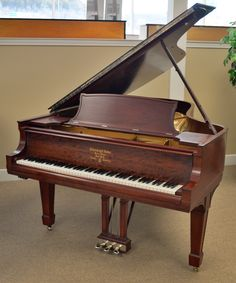 This beautiful Steinway Model B grand piano just arrived in our showroom! This piano received a thorough restoration just a few years ago and is ready to be delivered! For more information or to put your name on it, give us a call today at Piano Room, Grand Piano, My Living Room, Orchestra, Showroom, Glass Art, Restoration, Spotify Playlist, Keyboard