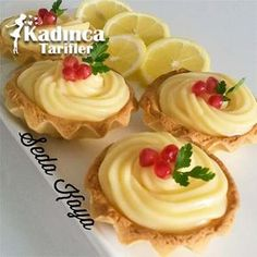Lemon Tartolet Recipe, how? – Female recipes – Delicious, practical and more exquisite recipe site - Chef HELEN LOG Tart Recipes, Cheesecake Recipes, Baking Recipes, Mini Desserts, Delicious Desserts, Yummy Food, Fun Easy Recipes, Popular Recipes, Turkey Cake