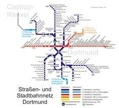 Stadtbahn : Dortmund U-Bahn-Karte , Deutschland