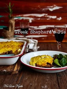 Warming Greek Style Shepherd's Pie