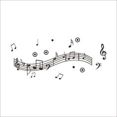 Rhythm Music Note PVC Plane Wall Stickers Black Red 2 Options ($9.85) ❤ liked on Polyvore featuring home, home decor, wall art, wall stickers, treble clef wall art, red and black wall art, musical notes wall decals, red and black home decor and music sheet