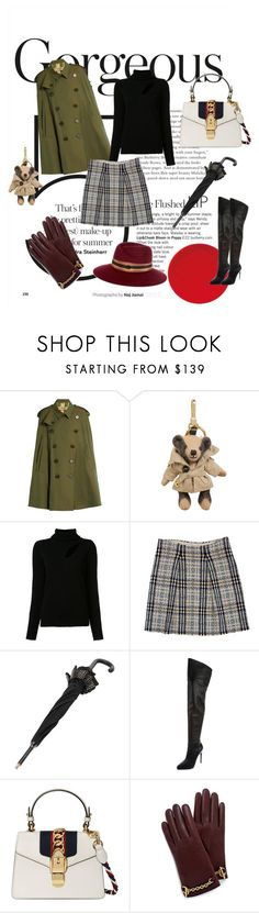 """gorgeous"" by cristhyne-torres on Polyvore featuring moda, Burberry, A.L.C., Gucci, Mulberry e Maison Michel"