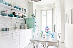 Binnenkijken in een piepklein appartementje in Stockholm / www.woonblog.be