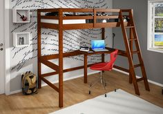 Bunk beds for teenage girl loft bed with desk for girls bunk beds teenage teen back . Queen Bunk Beds, Girls Bunk Beds, Loft Bunk Beds, Bunk Bed Plans, Kid Beds, Bunk Bed Shelf, Bunk Bed With Desk, Bed Shelves, Bunk Beds With Stairs