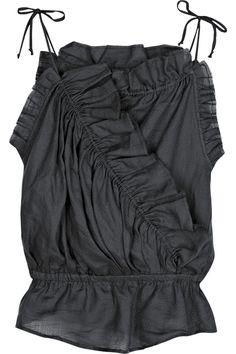 Isabel Marant's ruffled dark-gray top - gorgeous