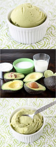 Easy Avocado Ice Cream recipe. So creamy and delicious!