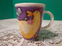 Roy Kirkham Country Capers 2001 Yellow Duck Coffee Mug Fine Bone China England
