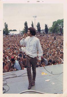 Jim Morrison at the Northern CA folk rock festival, San Jose, 1968.