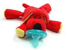 Wubbanub Red Dog Pacifier