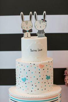 Βαπτιση για διδυμα με θεμα το bunny - EverAfter Bunny, Party Ideas, Cakes, Desserts, Tailgate Desserts, Cute Bunny, Deserts, Cake Makers, Kuchen