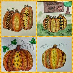 Angela Anderson Art Blog: Pumpkin Zentangle - Kids Art Class