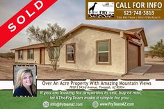 """What a great start of the week! SOLD """"Over An Acre Property With Amazing Mountain Views""""  