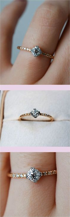 Perfect Simple And Minimalist Engagement Ring You Want To #EngagementRings