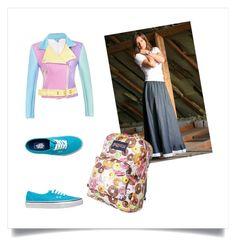 """Jeans Long Skirt"" by svetlana-garidova on Polyvore"