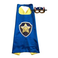 Paw Patrol Capes and Masks, Chase, super fun! Birthday parties, Easter gift, or just fun!