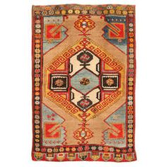 Antique Early 20th Century Turkish Karapinar Rug