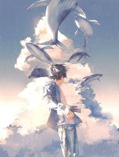 Aesthetic Anime, Aesthetic Art, Yuumei Art, Handsome Anime, Cute Anime Guys, Anime Scenery, Boy Art, Anime Artwork, Manga Art