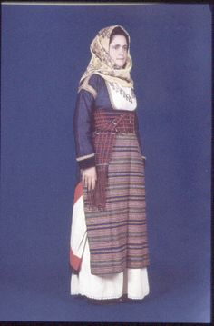 Megara, Attica Greek Traditional Dress, Traditional Clothes, Greek Dress, Folk Dance, Albania, Sorbet, Dance Costumes, Industrial Style, Persona