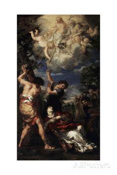 The Martyrdom of Saint Stephen, 1660 Giclee Print by Pietro da Cortona at AllPosters.com