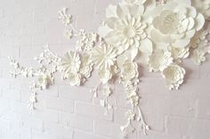 Handmade Paper Blossom Wall Display