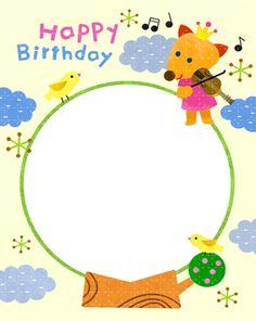 생일편지지 & 메모지 모음 ♡ : 네이버 블로그 Happy Birthday Frame, Birthday Frames, Happy Birthday Cards, Frog Crafts, Diy And Crafts, Birthday Special Friend, Shoulder Pads, Card Making, Stationery