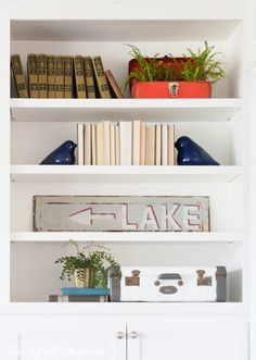 Living Room Decor – Finally Revealed – The Lily Pad Cottage Decor Home Living Room, My Living Room, Bookshelf Styling, Affordable Home Decor, Decoration, Entryway Decor, House Tours, Lily Pad, Bookcases