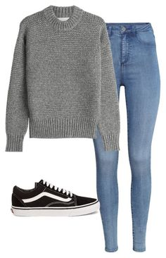 #fall #outfits / Grey Knitted Sweater + Denim
