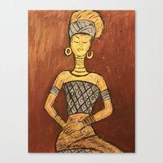 Nbdele Woman Canvas Print by lizzyc96 | Society6 Stretch Canvas, Art Prints, Folk Art, Canvas Prints, Tribal Art, Female Art, Art, Society6 Art, Framed Art Prints