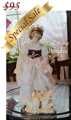 S.A.L.E... Schmid 1988 Porcelain Doll House Doll by DLSpecialties, $65.00