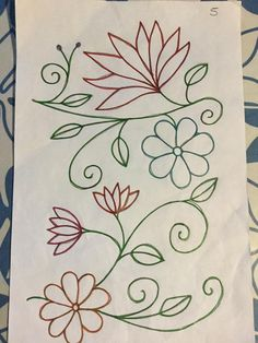 Ribbon Embroidery Flowers by Hand Embroidery Stitches Tutorial, Embroidery Patterns Free, Embroidery For Beginners, Hand Embroidery Designs, Embroidery Techniques, Beading Patterns, Mexican Embroidery, Crewel Embroidery, Ribbon Embroidery