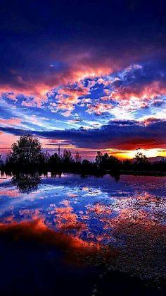 Sunrise on the shore of Lake M |