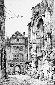 Samuel Prout (1783-1852) - Thien Church, Prague, 1833