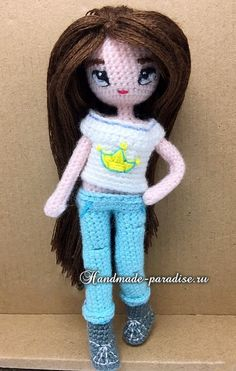 How to make a hair doll amigurumi (3) ♡ lovely doll