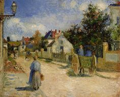 A Street in Pontoise, 1879 Camille Pissarro