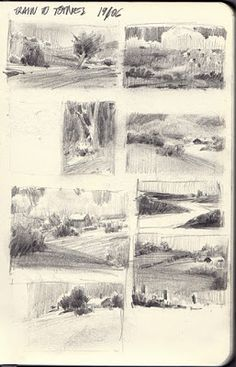 Will Gist: Sketchbook Plus You are in the right place about dessin croquis homme Here we offer you t Landscape Sketch, Landscape Drawings, Landscape Art, Landscape Paintings, Art Drawings, Drawing Sketches, Drawing Faces, Drawing Tips, Thumbnail Sketches