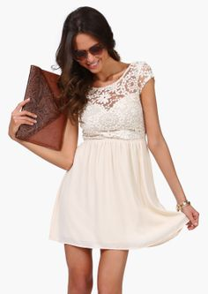 Ivory Crochet Top / Lace Dress