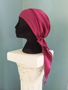 Free pattern for chemo no-tie scarf, free pattern for pretied bandanna, Snip-Rip-Hooray