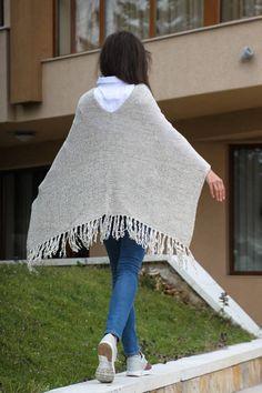 Knitted Crochet Beige Cotton Shawl Wrap Cotton Scarf Crochet