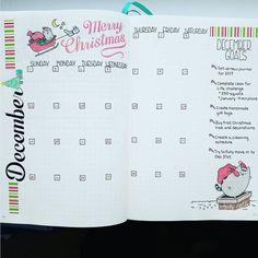 Idées de mise en page de Noël Bullet Journal