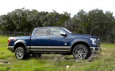 F-150 King Ranch in new Blue Jeans Metallic with new Caribou accent trims
