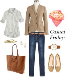 """""""Tan and Pink"""" by bluehydrangea ❤ liked on Polyvore"""