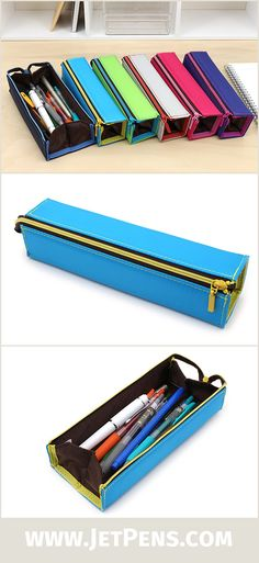 The Kokuyo C2 Pencil Case opens up into a convenient tray, making it easy to see your entire pen and pencil collection at a glance!