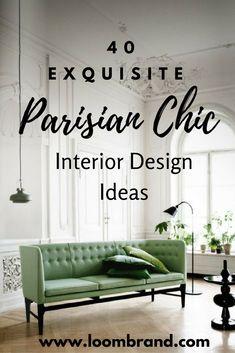 40 Exquisite Parisian Chic Interior Design Ideas - Best Home Decors Modern Home Interior Design, Apartment Interior Design, Interior Exterior, Interior Design Living Room, French Interior, Kitchen Interior, Classic Home Decor, French Home Decor, Parisian Decor