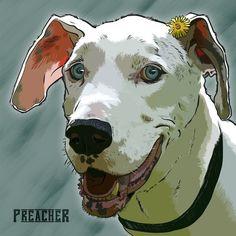 Custom dog portraits by WoundedWood #etsy #illustration #dog