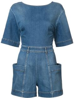 -- Stella McCartney Denim playsuit -- Only Always Denim Playsuit, Denim Jumpsuit, Playsuit Romper, Blue Jumpsuits, Playsuits, Jumpsuits For Women, Stella Mccartney, Looks Jeans, Estilo Jeans